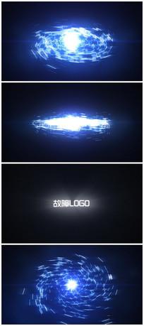 科技故障logo片头视频模板