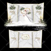 大理石纹婚礼效果图设计INS风婚庆舞台