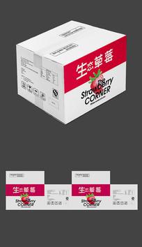高度大气草莓瓦楞纸运输包装平面图