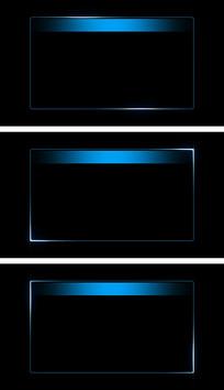 蓝色边框字幕板流光循环带通道视频素材