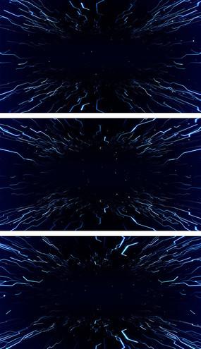蓝色粒子光线空间穿梭背景视频素材