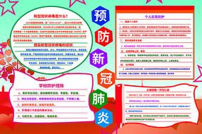 预防新型冠状病毒肺炎手抄报