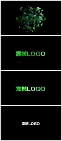 震撼烟雾logo演绎片头模板