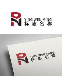 大气彩色商业时尚字母RN标志