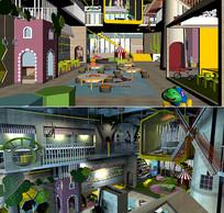 儿童室内游乐场3D模型