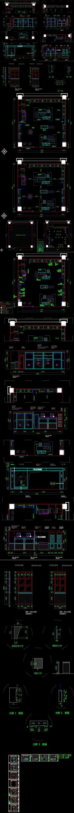 某男装店CAD施工图