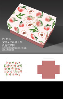 清新水蜜桃手绘包装