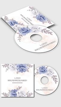 唯美浪漫小清新光盘封面设计