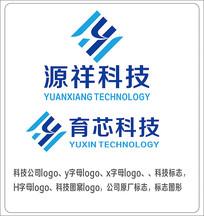 y字母科技公司原创标志LOGO