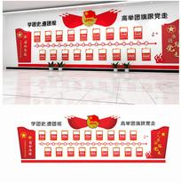 中国共青团团代会发展历程团史党建文化墙