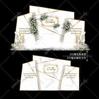 大理石纹婚礼效果图设计简单大气婚庆迎宾区