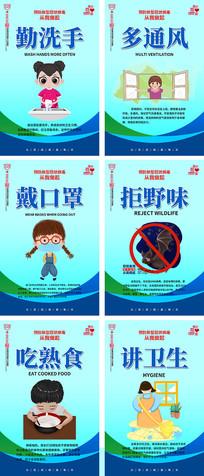 预防新型冠状肺炎病毒宣传展板挂画