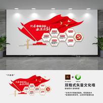 纪检委党建标语文化墙