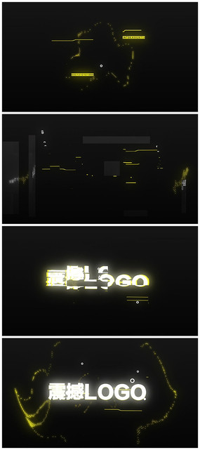 赛博朋克文字信号干扰故障失真视频模板