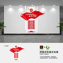 竖版纪检党建标语文化墙