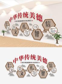 中华传统美德文化墙