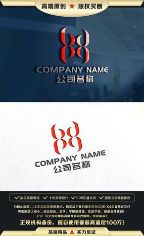 HX字母标志设计