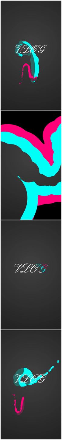 MG动画logo演绎文字流体卡通视频模板