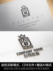 创意咖啡logo标志大气商标设计