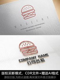 汉堡logo标志餐饮商标设计