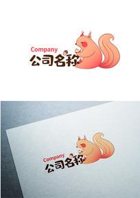 卡通松鼠图标LOGO