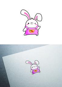 卡通兔子图标LOGO