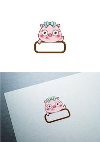 卡通小猪图标LOGO