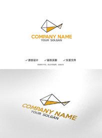 空间立体鱼造型企业标志