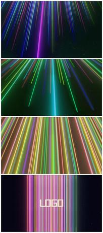 炫酷七彩光线logo片头视频模板