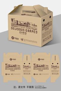 牛皮纸葡萄包装设计