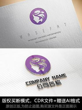女人logo标志女性商标设计