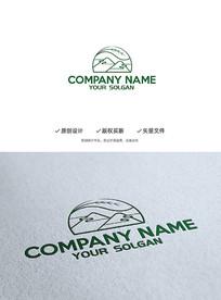 山祥云茶叶中国风企业标志