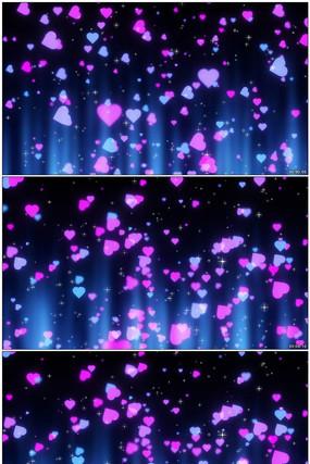 唯美爱心绚丽粒子背景视频素材