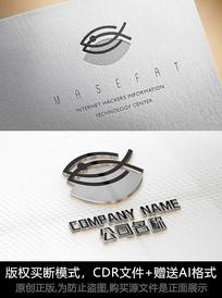 鱼logo标志简约商标设计
