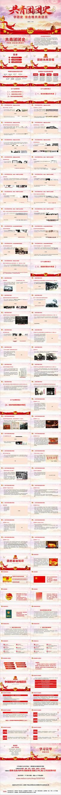 中国共青团团史团委团课PPT