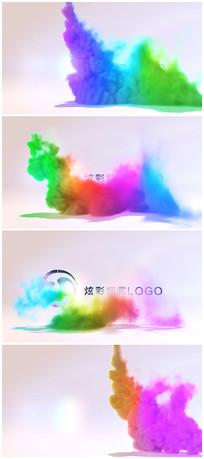 彩色烟雾出LOGO标题视频模板