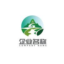 大气自然山水农业原生态logo