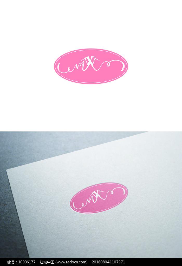 粉红衣架图标LOGO图片