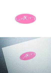 粉红衣架图标LOGO