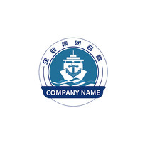 工业船舶制造班组logo