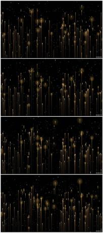 金色粒子光线晚会背景视频素材