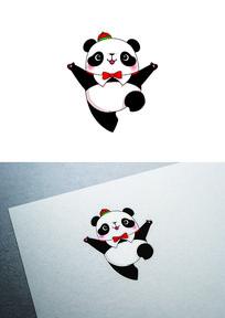 卡通公熊猫图标LOGO
