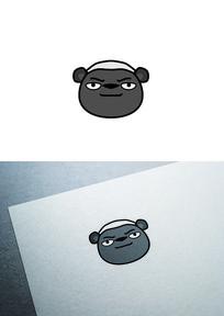 卡通蜜獾图标LOGO