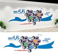 企业文化墙照片墙公司员工风采形象墙