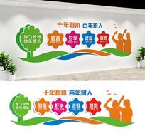 校园文化墙宣传标语墙设计