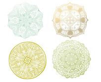 原创4种花边图案装饰