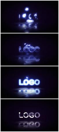 震撼科技故障logo片头视频模板