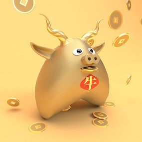 12生肖金牛储钱罐