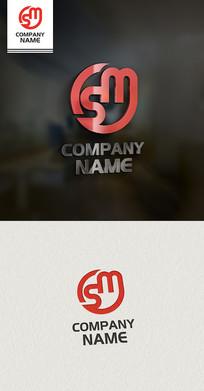 LOGO设计SM标志设计