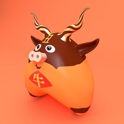 蛋形12生肖牛